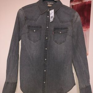 Levi's grey button shirt